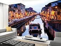 "Фотообои ""Венеция 2"", Текстуры: холст, иней, декоративная штукатурка)"