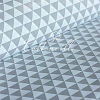 Хлопок Серые треугольники , фото 1