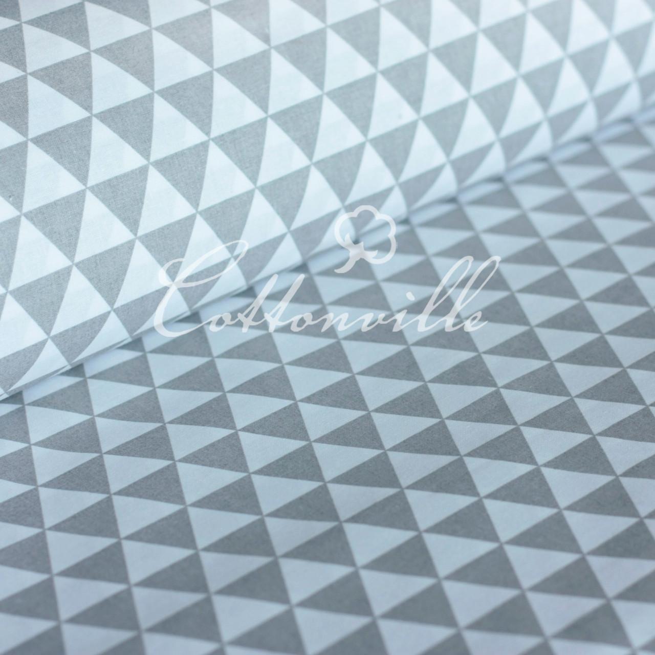 ✁ Отрезы ткани Серые треугольники