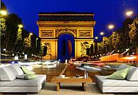 "Фотообои ""Париж 1"", Текстуры: Холст, Иней, Декоративная штукатурка"