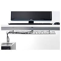 IKEA СИГНУМ Канал для кабеля горизонтальный, серебристый : 30200253, 302.002.53
