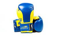 Боксерские перчатки PowerPlay 3021 Ukraine Blue-yellow