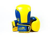 Боксерские перчатки PowerPlay 3021 Ukraine Yellow-blue