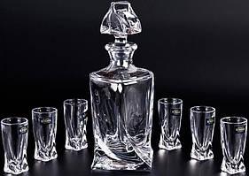 Набор для водки 7пр. Quadro Bohemia 99999/99А44/457