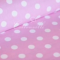 Бязь Горохи на розовом (24 мм), фото 1