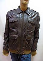 Мужская демисезонная кожаная куртка INDIGGO