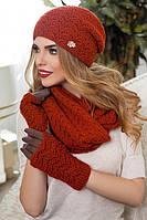 Комплект Франческа (шапка,шарф-снуд и перчатки)