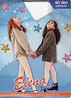 Колготки детские капроновые для танцев Elena, 60 Den, Украина, размер A (116-128 см), белые, 8909