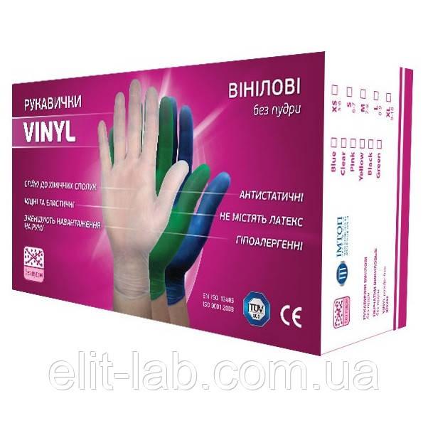 Перчатки виниловые 100 шт/уп размер М