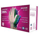 Перчатки виниловые 100 шт/уп размер М, фото 2