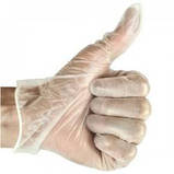 Перчатки виниловые 100 шт/уп размер М, фото 5