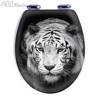 Сиденье для унитаза с микролифтом Tiger с 3D рисунком