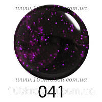 Гель-лак G.La Color, 10ml, цвет №041 (темный фиолетовый с яркими сиреневыми блестками)