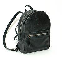 Женский кожаный рюкзак черный флотар