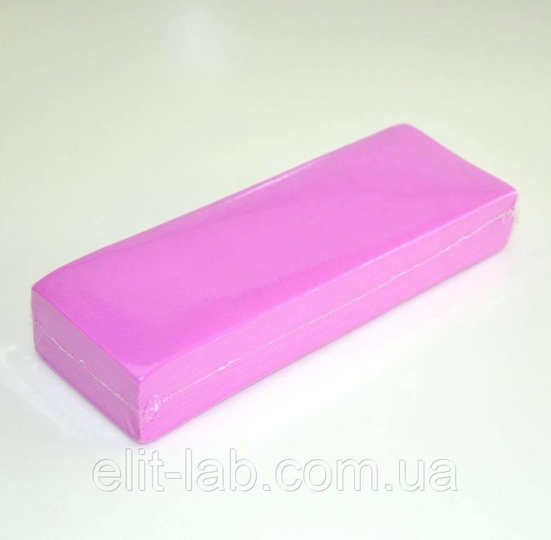 Смужки для депіляції - 100 шт/уп - рожеві.Італійська лінія.