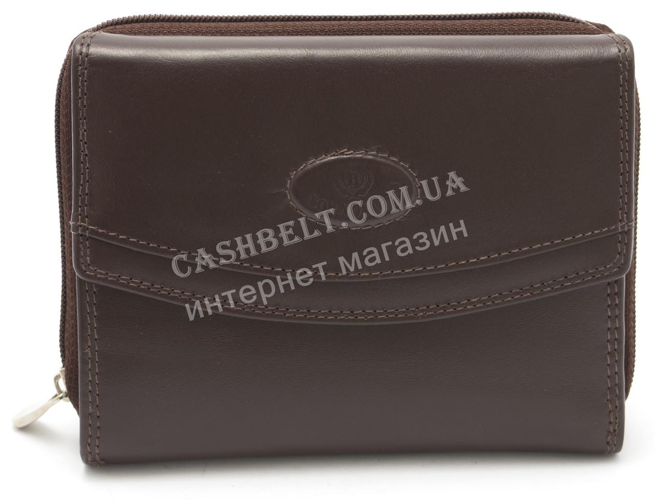 Супер стильный практичный кожаный мужской кошелек Bon-Voyage art. ASL55670 коричневого цвета