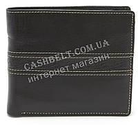 Стильный практичный кожаный мужской кошелек WENZ art. 637 черного цвета, фото 1
