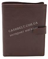 Стильный практичный кожаный мужской кошелек портмоне документница WENZ art. KB506 коричневого цвета, фото 1