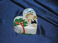 Интерьерная декоративная  свеча ко Дню Святого Валентина