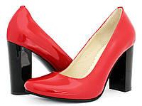 Туфли красные женские на каблуке. Фабрика - Sodis. Купить в интернет-магазине.