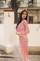 Легкое повседневное платье в полоску 4 цвета