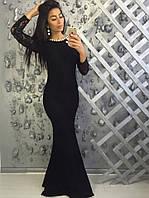 Вечернее платье годе набивной гипюр