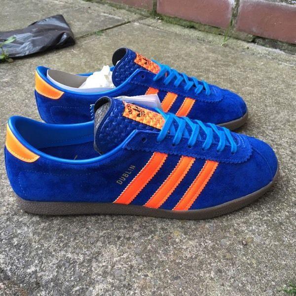 Кроссовки мужские замшевые Adidas Dublin адидас дублин синие - Козырный Шуз в Чернигове