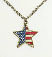 Подвеска Звезда с американским флагом