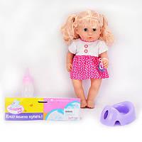 Кукла 33010-A2 (36шт) 36,5см,звук(рус),горшок,бутылочка,соска,на бат(табл),в кульке,25,5-53-10см