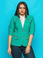 Жіночий напівприталений жакет зі змійками, рукави вільні Modniy Oazis зелений 9062/3, фото 1