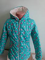 Курточка для девочки сердечками