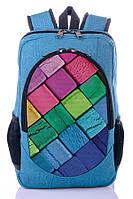Рюкзак школьный, городской с принтом Пластелин.