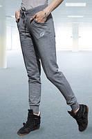 Женские спортивные брюки серые 7921