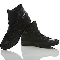 Кеды Converse оригинал полностью черные высокие
