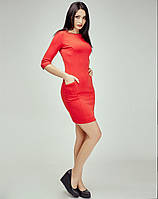 Интересное платье футляр насыщеного цвета