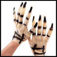 Перчатки зомби резиновые - оригинальный аксессуар для вашего образа!, фото 1