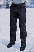 Мужские брюки FREEVER (soft shell) черные 01