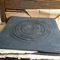 Плита для казана чугунная Украина  550*550 отверстия. 400мм
