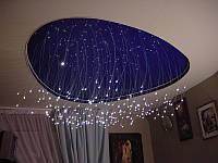 Многоуровневые натяжные потолки  звездное небо