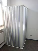 Шторка двері для душа кутова 100х100х185 см прямокутна