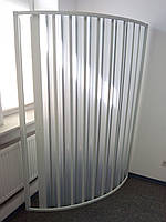 Шторка дверь для душа полукруглая 100х100х185 см, фото 1