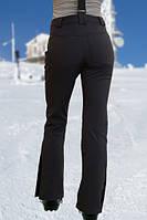 Женские брюки FREEVER (soft shell) черные с розовым 6501