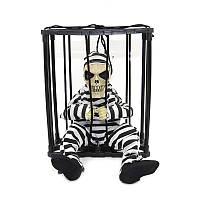 """Череп в клетке - """"Заключенный"""" - говорит и вырывается с клетки - декор на хэллоуин"""