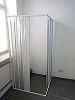 Ширма для душа угловая прямоугольная 90х90х185 см, фото 1