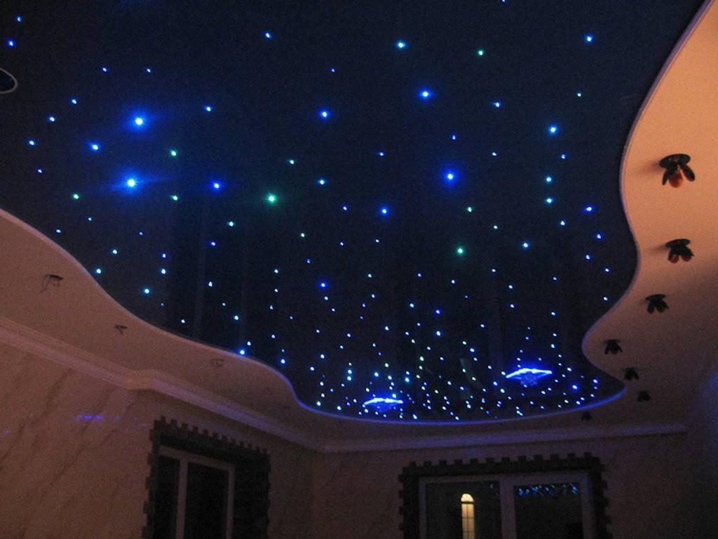 Многоуровневые натяжные потолки звездное небо в Харькове