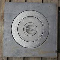 Плита чугунная варочная Украина 370*360 мм диаметр 255 просвет отверстия 227мм