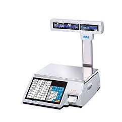 Весы с печатью этикетки | CAS CL5000J-IP/R | 30 кг