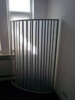 Ширма двері для душа напівкругла кутова 90х90х185 см, фото 1
