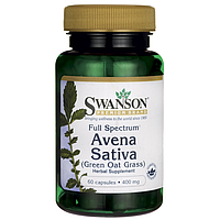 Экстракт овса посевного - Авена Сатива / Avena Sativa (Green Oat Grass), 400 мг 60 капсул