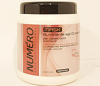 Маска для блеска волос на основе ценных масел Аргании и Макадамии Brelil NUMERO  1000 мл.,